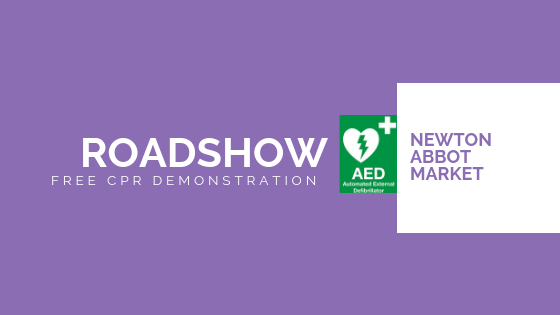 cpr-defribrillator-roadshow-demonstration-newton-abbot